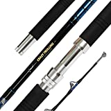 Fiblink Saltwater Offshore Heavy Trolling Fishing Rod Big Game Conventional Boat Fishing Roller Rod Pole with All Roller Guides (2-Piece,6-Feet,30-50lb)