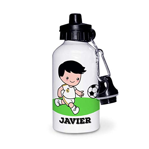 Kadoo Regalos Botella de Aluminio Personalizada Infantil Fútbol (600ml)