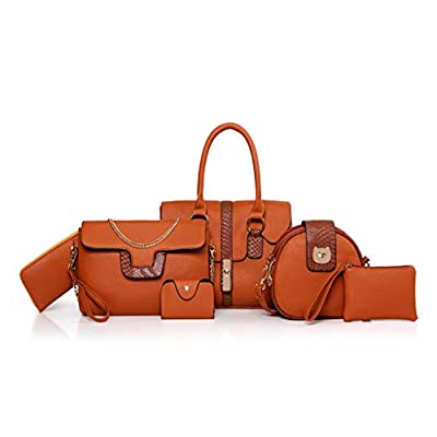 Molisell Women's Handbag, 6 pcs, Quality PU leather New Fashion Shoulder Bag Messenger Bag Wallet Handbag