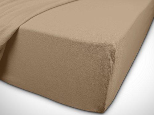 klassisches Jersey Spannbetttuch – erhältlich in 22 modernen Farben und 6 verschiedenen Größen – 100% Baumwolle… - 7