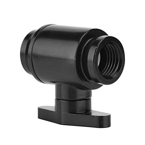 Richer-R G1/4 tum intern tråd svart vattenkulventil med mässing nickelpläterad aluminiumhandtag för dator vattenkylningssystem (svart)