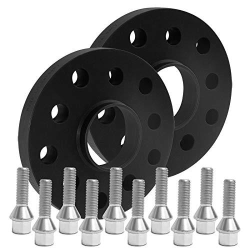 BlackLine Spurverbreiterung 20mm (10mm) mit Schrauben silber 5x120 72,6mm - 12124W_10_M1215KE35S