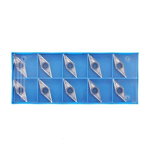 HONYGE LXGANG Vnmg160404 Inserto de carburo indexable - 10 piezas Vnmg160404 herramienta de torno CNC de perforación de corte de acero de carburo indexable