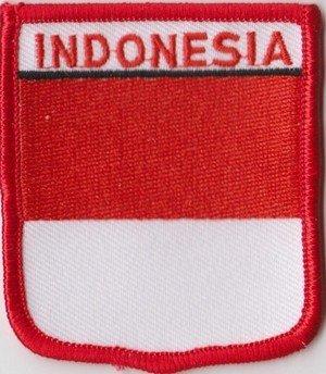 Aufnäher Patch Anstecknadel Indonesien Flagge Fahne