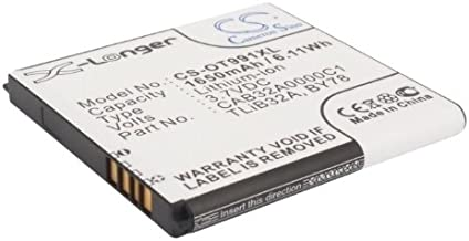 1650mAh Battery Replacement for Alcatel One Touch 6010, One Touch 6010D, One Touch 916, One Touch 916D, One Touch 991, P/N BY78, CAB32A0000C1, CAB32A0000C2, TLiB32A