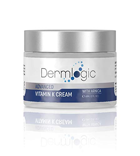 Vitamin K Cream- Moisturizing Bruise Healing Formula. Dark Spot Corrector for Bruising, Spider Veins & Broken Capillaries. Reduces Under Eye Dark Circles, Fine Lines, Puffiness, & Wrinkles with Arnica