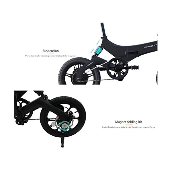 "Electric Bikes Bestice Electric Bikes for Adult ONEBOT S6 16"" Foldable E-Bike 36V 6.4Ah 250W 25KM/h Electric Bikes Adjustable…"
