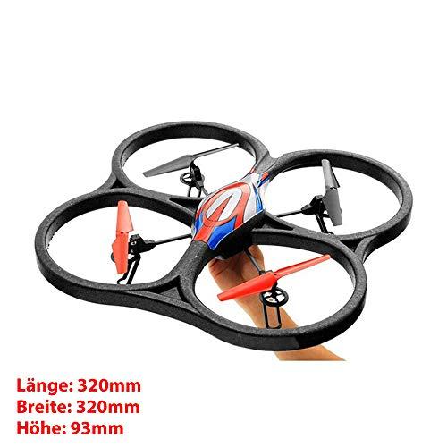 XXL FPV Quadrocopter Upgrade PRO HD-Edition, 4.5-Kanal 5.8GHz RC ferngesteuerte 3D Drone mit Live-Übertragung inkl. HD Kamera-Set, FPV-Monitor, Power LiPo-Akku, Ersatzteil-Set, Ready-to-Fly RTF