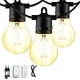 Lichterkette Außen, 5M/16.4Ft IP44 Wasserdicht 10 LED A60 Lichterkette Glühbirnen, L.A.NOVA Innen/Aussen Lichterkette für Garten, Party, Pavillon, Hochzeit (Warmweiß)