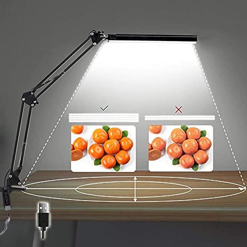 14W Lámpara de escritorio LED Lámpara de lectura de brazo Eye-Care Architect USB Lámpara regulable con 3 modos de color 10 niveles Adecuado Para Oficina, Lectura, Estudios