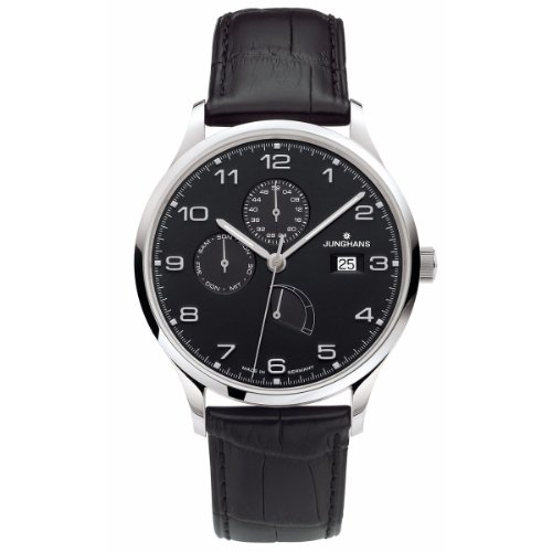 Junghans Reloj de Pulsera para Hombre XL Attaché Agenda analógico automático Piel...