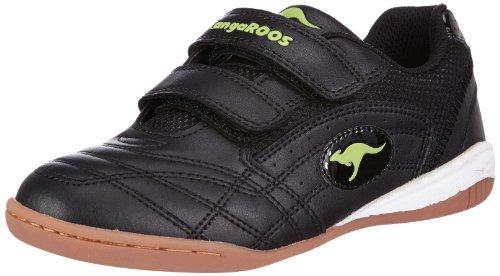 KangaROOS KR10704 Backyard Childrens Shoe White/Black/Little Boys Trainers (12 Child US) (Black/Lime)