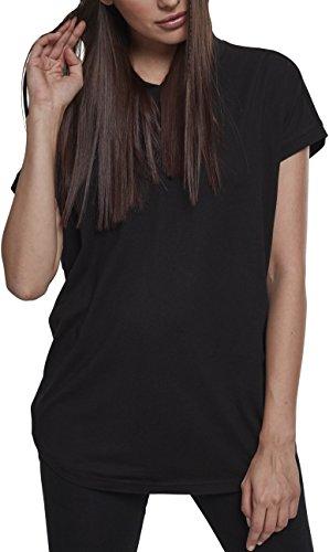 Urban Classics Damen Ladies Sleeveless Jersey Hoody T Shirt, Schwarz, 3XL Gro e Gr en EU