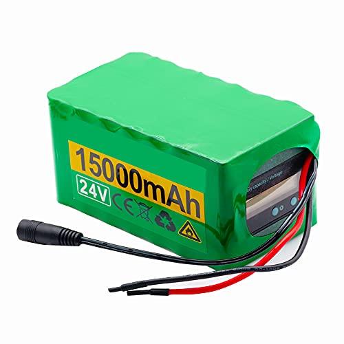 FJYDM Paquete De Batería Ebike 24V 15Ah Batería De Litio para Bicicleta Eléctrica con Cargador, Batería De Litio para Scooter De Iones De Litio 200W 250W 350W 500W Motor