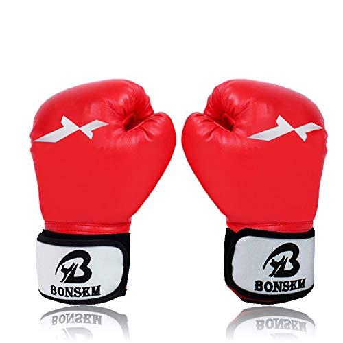 somubi Brasilianische Muay Thai PU-Leder Boxhandschuhe Damen Herren MMA Gym Training Grant Boxhandschuhe
