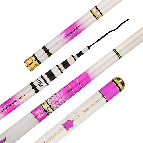 NYKK Angelausrüstung Super Light Super Hard Carp Rod Angelrute Teleskop Tisch Angelrute Carbon Angelrute Fliegenfischer Rod & Reel Combos (Size : 4.8meters)