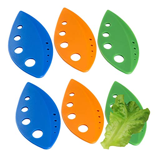 Herb Stripper Blatt Kräuter Stripper Gemüse Blatt Stripper Gemüse Küche Gadgets für Mangold Collard Greens Thymian Basilikum Rosmarin blau + grün + orange(6 Stück)