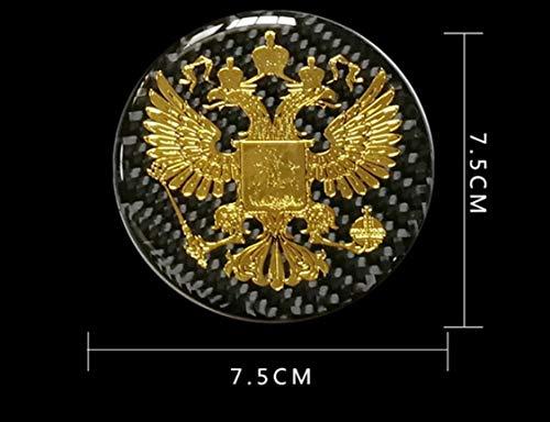 Max Auto Carbon , Metalle Aufkleber Russische Föderation Adler Russia Russland Россия Pусский V1