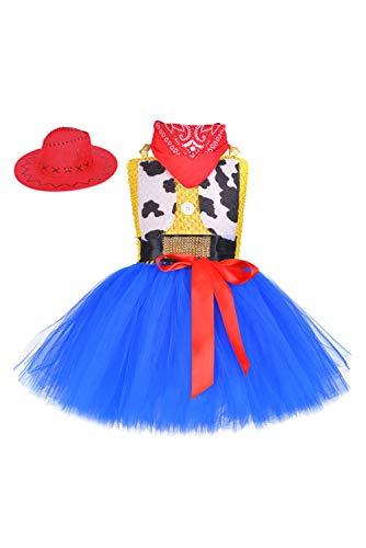 lancoszp Vestido Tutu de Vaquero Ninas Pelicula Cosplay Disfraz de Escenario 80cm-140cm, 140