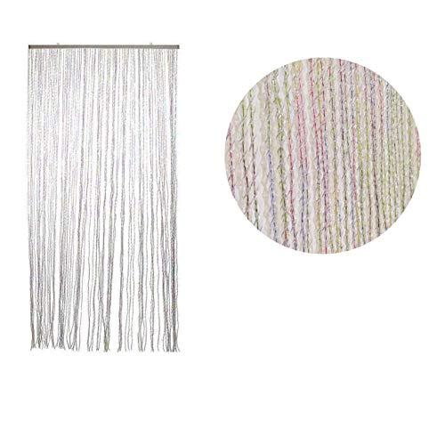 Gieffe Tenda Alice 125x235cm Multicolor | Tenda Made in Italy Antimosche Trasparente a Colori in PVC - 140 Fili | Tenda per Porta Finestra Moschiera a Pannello