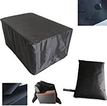 QEES BBQ Gas Grill Cover with Closed Strap 420D Heavy Duty Outdoor Garden Waterproof Cover Tables Chairs Dust Cover Thick and Durable Fit Most Grill Components 84