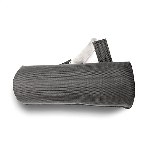 EUROXANTY Cojin Lumbar | Almohada Lumbar para Sillas y Asientos | Cojin Adaptable a Cualquier Asiento | 14 x 35 x 6 cm | Negro |