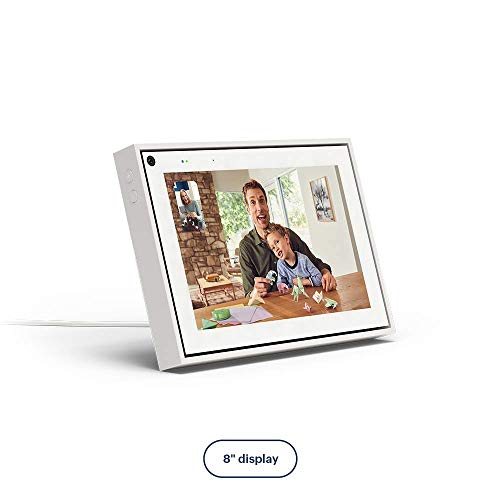 Facebook Portal Mini Smart Video Calling 8 Touch Screen Display with Alexa White