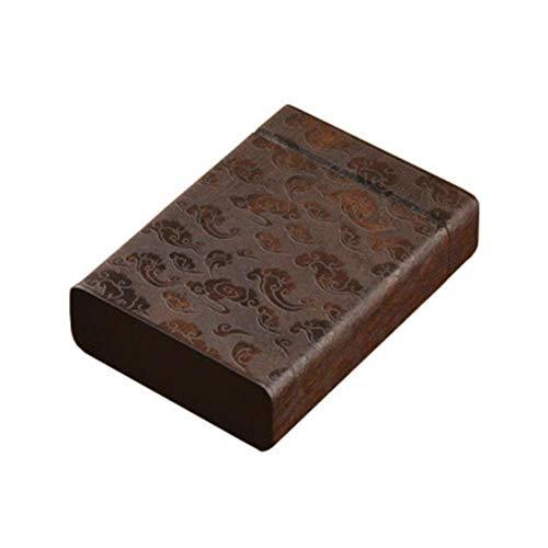 CLJ-LJ Caso de cigarrillos, Whole hueco de madera, ébano, de 12 piezas Clamshell, comidas de la talla de socorro, la caja de cigarrillos Xiangyun, Recuerdo, Pareja hombre regalo regalo, de cuatro cara