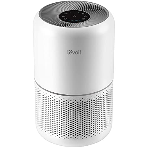Levoit Air Purifiers for Home with H13 HEPA & Carbon Air Filters CADR 187 m³/h, removes 99.97% Pollen Allergies Dust Smoke, Air Cleaner with Timer, Quiet 24dB Sleep Mode for Room Up to 40m², Core 300