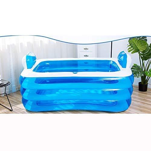 BBZZ Piscina infantil, piscina inflable para niños, bañera gruesa plegable para adultos,...