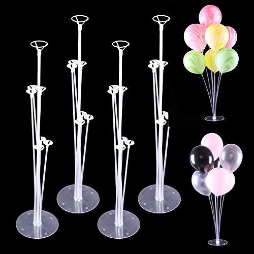 4 Stück Ballon Stick Halter Balloon Stand Kit Luftballons Ständer Halter Ballonhalter Tischballonständer Ballonzubehör für Party Dekoration Geburtstag Hochzeitsdekoration