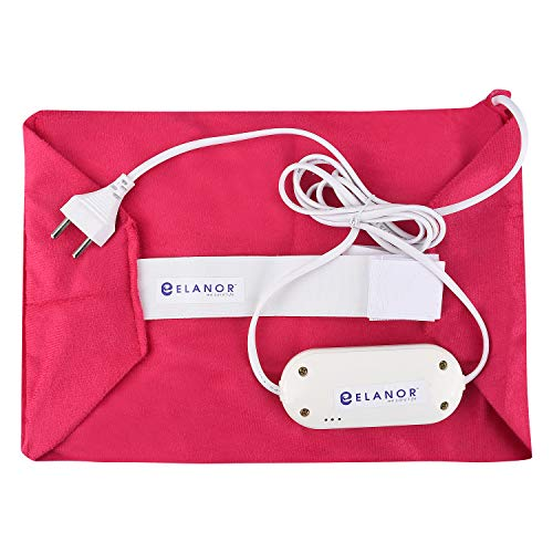 ELANOR we care life Multipurpose Orthopaedic Electric Heating Belt for Pain Relief   Heating Pad   Electric Waist Wrap Pad   Pain Reliever with Temperature Controller for Lower Back, Shoulder, Knee (Regular) (Cloth Color May Vary)