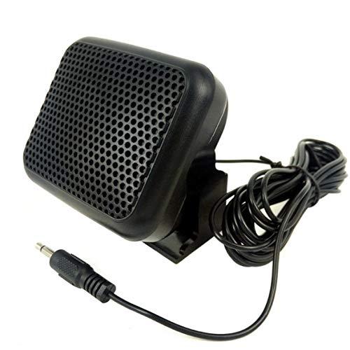 Sylvialuca Mini Externer Lautsprecher NSP - Für Yaesu Für Kenwood Für ICOM Für Motorola Amateurfunk CB Hf Transceiver Externer Lautsprecher