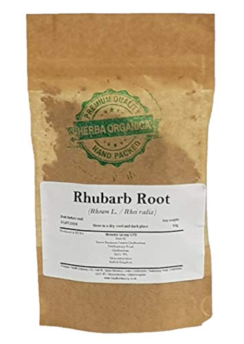 Rhubarb Root - Rheum L # Herba Organica # Dried Cut Root Loose Herbal...