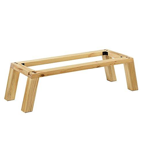 [en.casa] Untergestell für kombinierbare Regalen 23x85,5x30cm Gestell Regalgestell