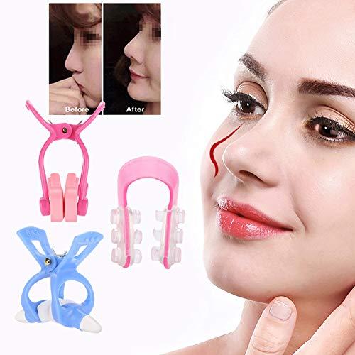 Clip de silicona para la nariz, clip para la nariz, clip para la nariz para levantar la nariz, clip para la nariz, modelador de nariz, portátil, 3 piezas, modelador...