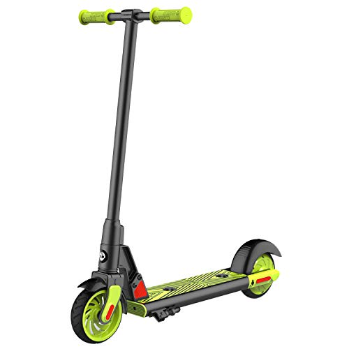 "Gotrax gks electric scooter, kick-start boost and gravity sensor kids electric scooter, 6"" wheels ul certificated e scooter for kids age of 6-12 (green)"
