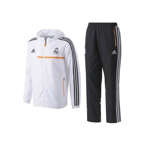 2013-14 Real Madrid Adidas Presentation Tracksuit (White)