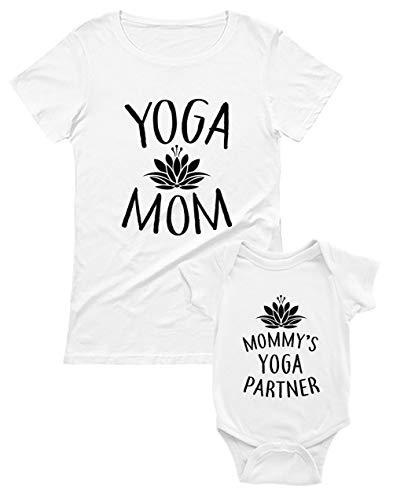 Yoga Mom - Regalo Original Mamá Mamá Blanco Medium/Bebé Blanco 12-18 Mes