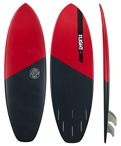 Light Hybrid Black/Red-Epoxy-Future Surfboard, 5'8