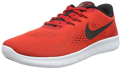 Nike Unisex-Kinder Free RN (GS) Low-Top, Rot (600 University RED/Black-White), 38.5 EU