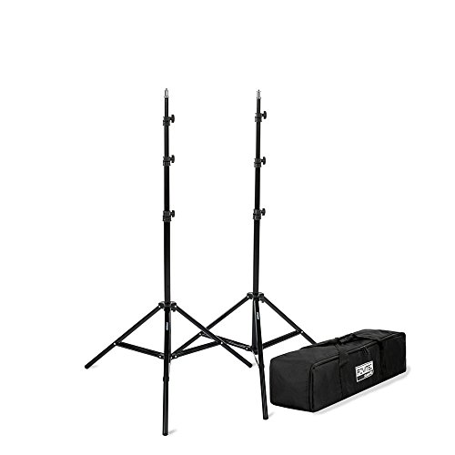 "Fovitec - 1x 7'6"" Photography & Video Light Stand Kit - [For Lights, Reflectors, & Modifiers][Collapsible][Spring Cushioned][Carrying Bag Included]"