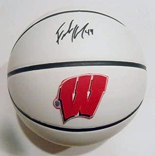 Frank Kaminsky Autographed Signed Wisconsin Badgers Logo Basketball JSA COA Sd07629
