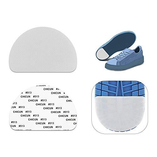 MATIE FIX Anti Slip Shoe Grip Non-Slip Shoes Pads Grips Rubber Anti-Slip Shoe Grips Can Non-Slip Noise Reduction (3 Pairs) (Transparent)