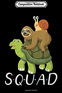 Composition Notebook: Funny Cute Sloth - Turtle - Snail Squad Slow Gift Halloween  Journal/Notebook Blank Lined Ruled 6x9 100 Pages