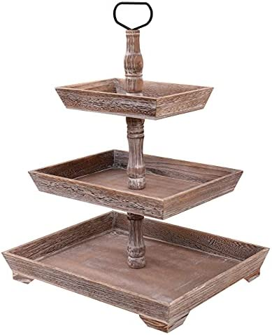 3 tier wooden cake stand _image0