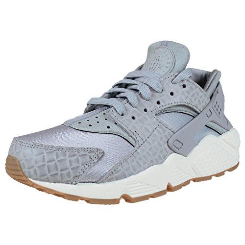 Nike Damen Air Huarache Run Sneaker Grau Weiß, Größe:37.5
