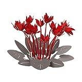 ARTI E MESTIERI - Centro de Mesa Moderno de Pizarra roja con diseño Floral
