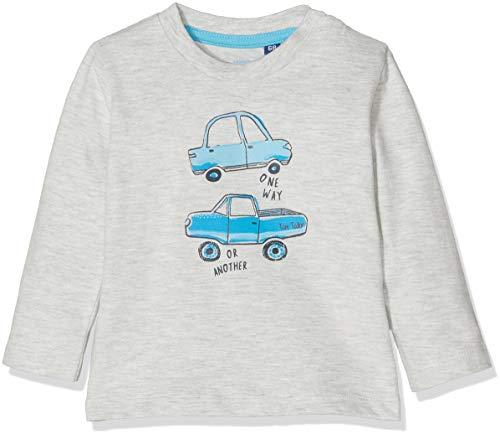 TOM TAILOR Kids TOM TAILOR Kids Baby-Jungen T-Shirts 1/1 Langarmshirt, Beige (Lunar Rock Melange|Beige 8439), 62