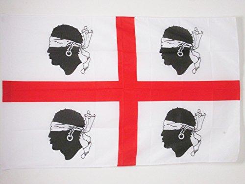 AZ FLAG Flagge SARDISCHER NATIONALISMUS 150x90cm - SARDINIEN Fahne 90 x 150 cm Scheide für Mast - flaggen Top Qualität
